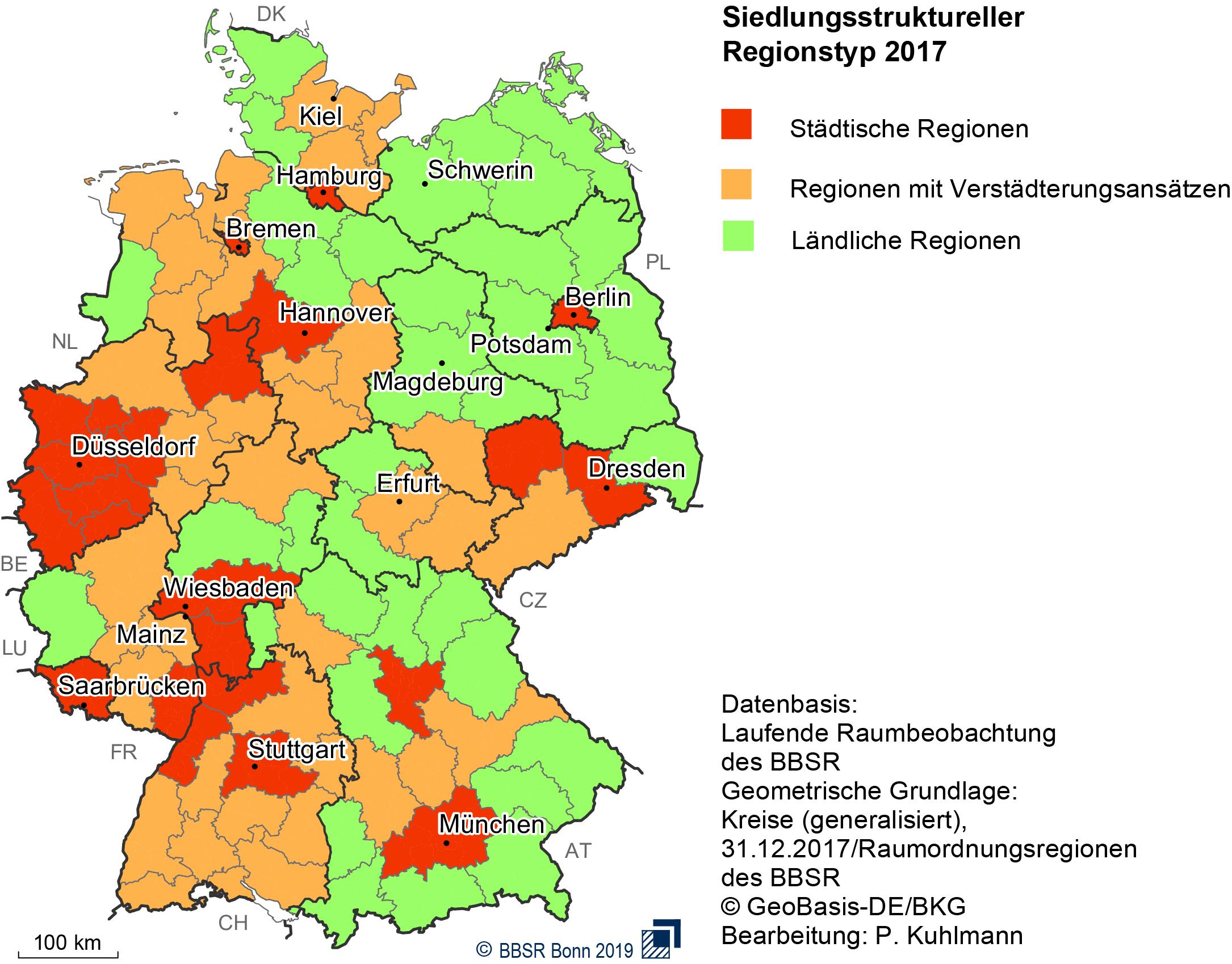verdichtungsräume in deutschland karte BBSR   Raumbeobachtung   Downloads